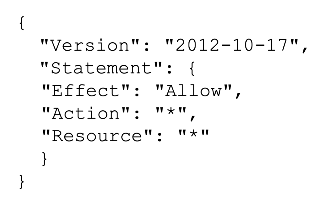 AWS permissions that allow access to all resources and actions